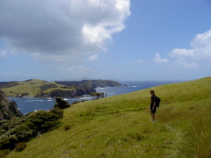 Ellen hiking in Bay of Islands, New Zealand